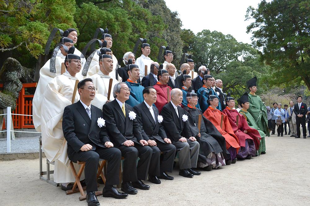勅祭の最後に行われた記念写真撮影