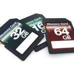 撮影で使うメディアのSDカード3種類